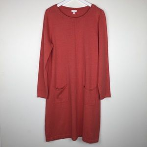 J. JILL Pure Jill Orange Shift Dress Size Large
